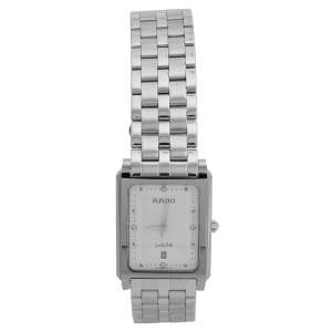 Rado Silver White Stainless Steel Tungsten Carbide Diastar 129.0563.3 Women's Wristwatch 25.50 mm