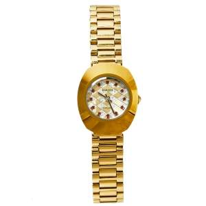 Rado Gold Tone Stainless Steel DiaStar The Original 1741 Quartz Women's Wristwatch 21 MM
