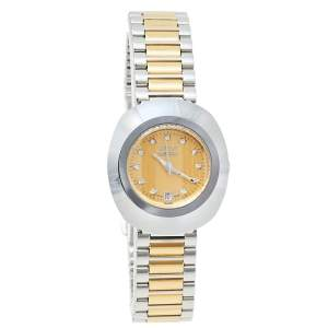Rado Gold Tungsten Carbide & Two Tone Stainless Steel DiaStar R12307304 Women's Wristwatch 27 mm