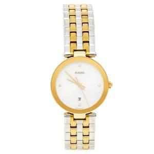 ساعة يد نسائية رادو فلورنس R48872723 ستانلس ستيل ذهبي اللون فضية 28 مم