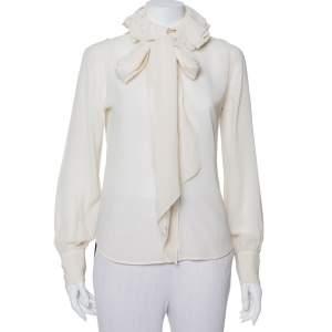 قميص رالف لورين كولكشن حرير بيج كشكشة وحزام مقاس صغير - سمول