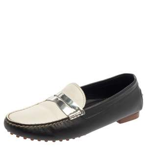 Ralph Lauren Tricolor Leather Penny Slip On Loafers Size 39