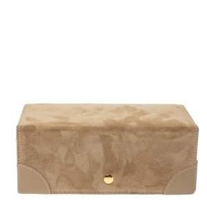 Ralph Lauren Beige Suede Brooke Travel Jewellery Box