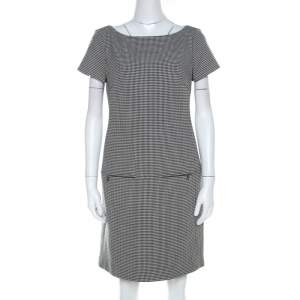 Ralph Lauren Monochrome Houndstooth Ailya Dress M