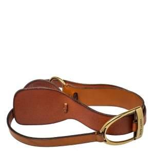 Ralph Lauren Tan Leather Equestrian Waist Belt 85CM