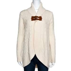 Ralph Lauren Cream Cashmere & Wool Shawl Collar Cardigan XS