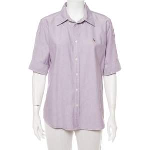 Ralph Lauren Purple Cotton Short Sleeve Button Front Shirt XL