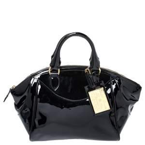 Ralph Lauren Black Patent Leather Proprietor Satchel