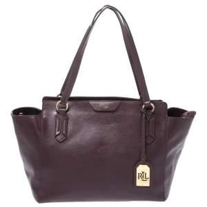 Ralph Lauren Burgundy Leather Tote