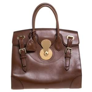 Ralph Lauren Brown Leather Ricky 32 Tote
