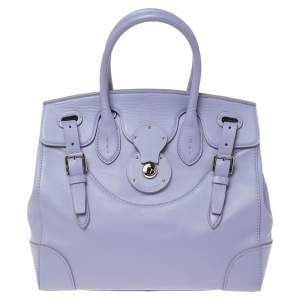 Ralph Lauren Lilac Leather Ricky 32 Tote