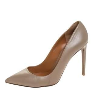 Ralph Lauren Beige Leather Pointed Toe Pumps Size 40