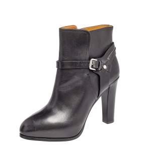 Ralph Lauren Black Leather Ankle Length Boots Size 39