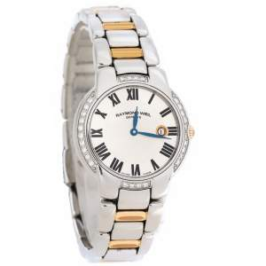 Raymond Weil Silver Two-Tone Stainless Steel Jasmine 5229 Women's Wristwatch 29 mm