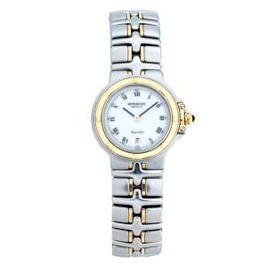 Raymond Weil White Yellow Gold Plated Stainless Steel Parsifal Quartz Women's Wristwatch 28 MM
