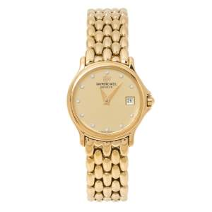 Raymond Weil Gold Plated Chorus 5368 Women's Wristwatch 23.50 mm