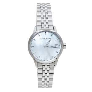 Raymond Weil Mother Of Pearl Stainless Steel Freelancer Women's Wristwatch 33.50 mm