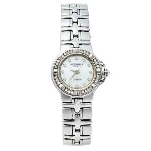 Raymond Weil Mother Of Pearl Stainless Steel Diamonds Parsifal Mini 9691 Women's Wristwatch 21 mm
