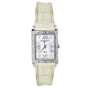 Raymond Weil Mother of Pearl Stainless Steel Diamonds Tango 5981 Women's Wristwatch 23 mm