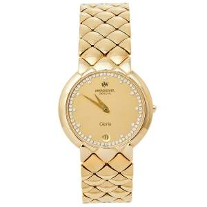 Raymond Weil Champagne 18K Gold Electroplated Gloria Quartz Women's Wristwatch 32MM