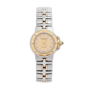 Raymond Weil Champagne Diamonds 18k Gold and Stainless Steel Parsifal 9690 Women's Wristwatch 23 mm