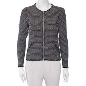 Rebecca Taylor Multicolor Graphic Tweed  Zip Front Jacket S