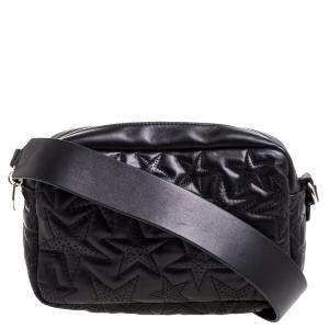 RED Valentino Black Star Quilted Leather Crossbody Bag