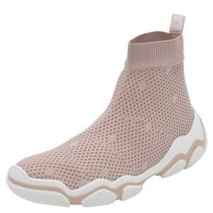 RED Valentino Foschia Stretch Fabric Glam Run High-Top Sneakers Size 36