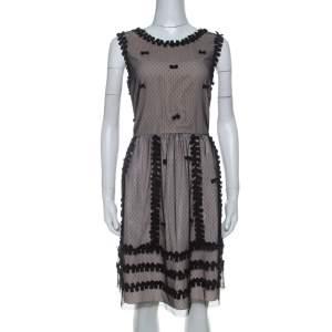 فستان ريد فالنتينو طبقة دانتيل متباينة كريب و تفتا بيج L