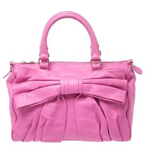 RED Valentino Pink Leather Bow Sacthel