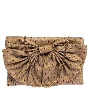 RED Valentino Lace Daisy Bow Chain Clutch