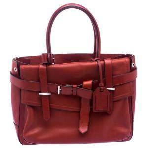 حقيبة يد بوكسر ريد كراكوف جلد حمراء متوسطة