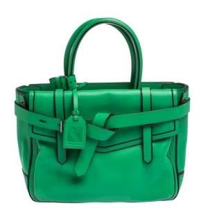 حقيبة يد ريد كراكوف بوكسر جلد أسود و أخضر