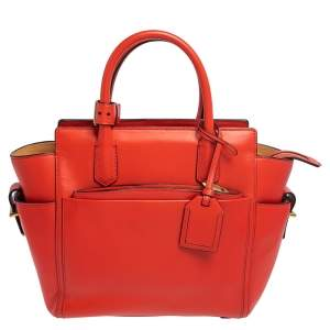 Reed Krakoff Red Leather Atlantique  Tote