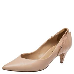 Repetto Beige Leather Pointed Toe Pumps Size 38