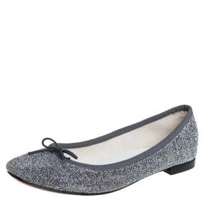 Repetto Glitter Fabric Ballet Flats Size 37