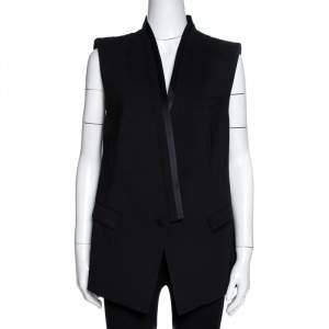Roberto Cavalli Black Stretch Wool A-Line Vest L