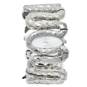 ساعة يد نسائية روبرتو كافالي كليوباترا R7253195515 ستانلس ستيل فضية 40 مم