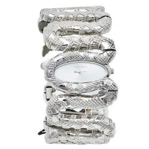 ساعة يد نسائية روبرتو كافالي كليوباترا أر7253195515 ستانلس ستيل فضية 40 مم