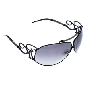 Roberto Cavalli Black Smoke Carneia Oversize Sunglasses