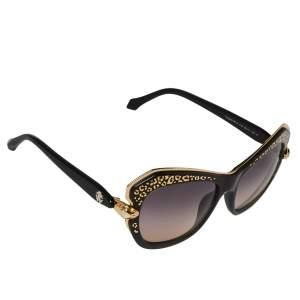 Roberto Cavalli Black/ Bicolor Gradient Taygeta 981S Cateye Sunglasses