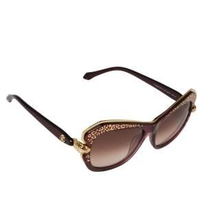 Roberto Cavalli Purple/ Brown Gradient Taygeta 981S Cateye Sunglasses