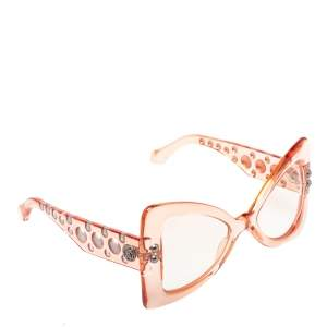 Roberto Cavalli Clear Pink/ Clear RC1055 Fiesole Butterfly Sunglasses
