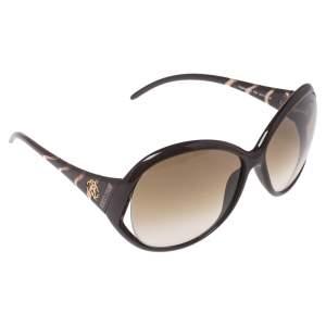 Roberto Cavalli Brown Pegaso 338S Oversized Sunglasses