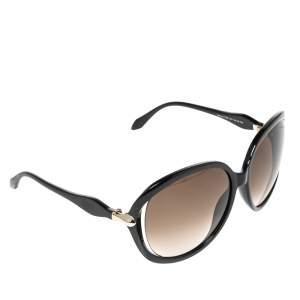 Roberto Cavalli Black Acetate Banyan 732S 01F Gradient Sunglasses