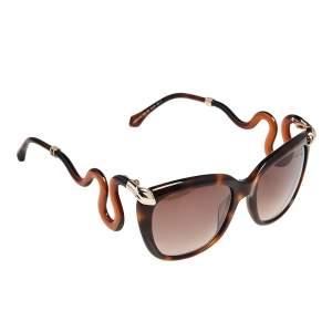 Roberto Cavalli Brown Havana/ Brown Gradient 1038 Castelnuovo Square Sunglasses