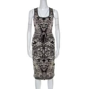 Roberto Cavalli Bicolor Metallic Knit Jacquard Skirt and Top Set S