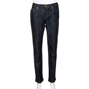 Roberto Cavalli Indigo Dark Wash Denim Tapered Jeans M
