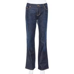 Roberto Cavalli Blue Dark Wash Denim Straight Leg Jeans L