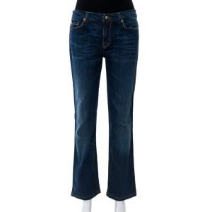 Roberto Cavalli Indigo Dark Wash Denim Straight Fit Jeans M